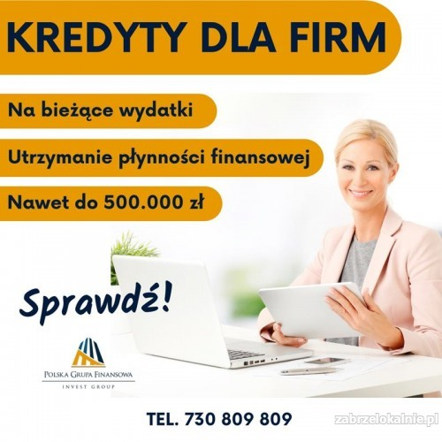 Kredyt dla Firm bez formalności wypłata w 24h. Na dowolny Cel